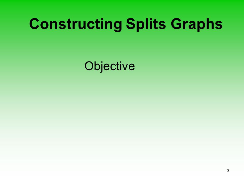 3 Constructing Splits Graphs Objective