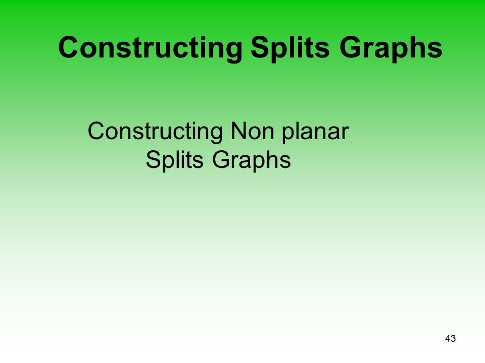43 Constructing Splits Graphs Constructing Non planar Splits Graphs