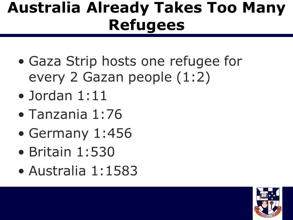 We re Being Swamped by Hordes of Boat People in 2000, 300 000 refugees arrived in Europe to seek asylum.