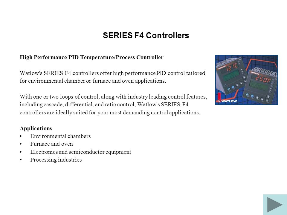 SERIES F4 Controllers