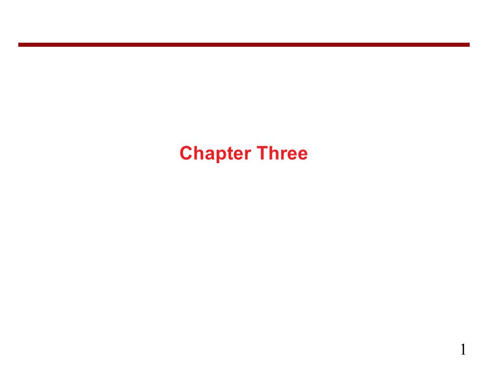 1 Chapter Three