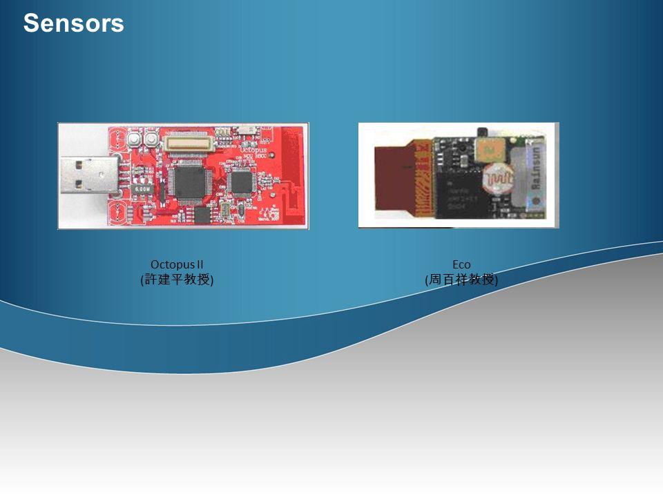 Sensors Eco ( 周百祥教授 ) Octopus II ( 許建平教授 )