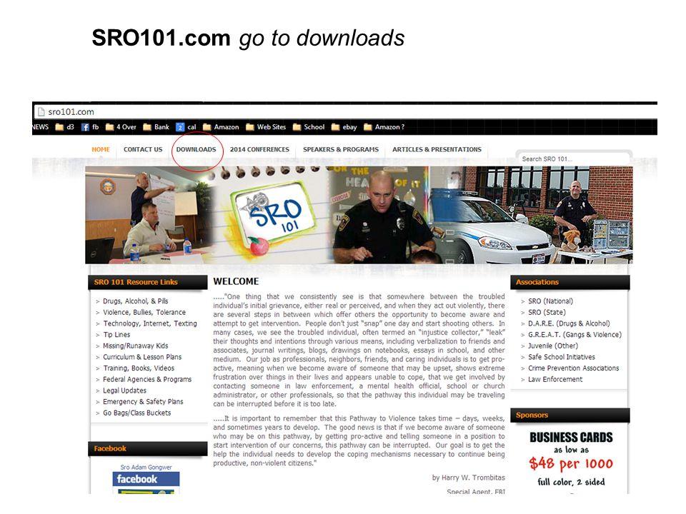 SRO101.com go to downloads