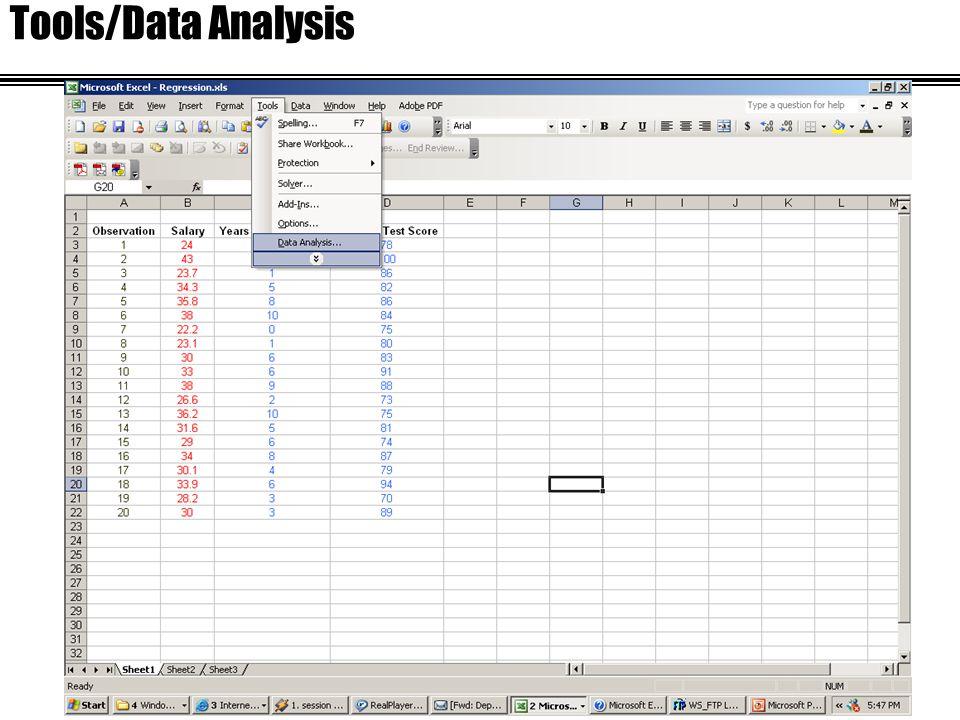 Tools/Data Analysis
