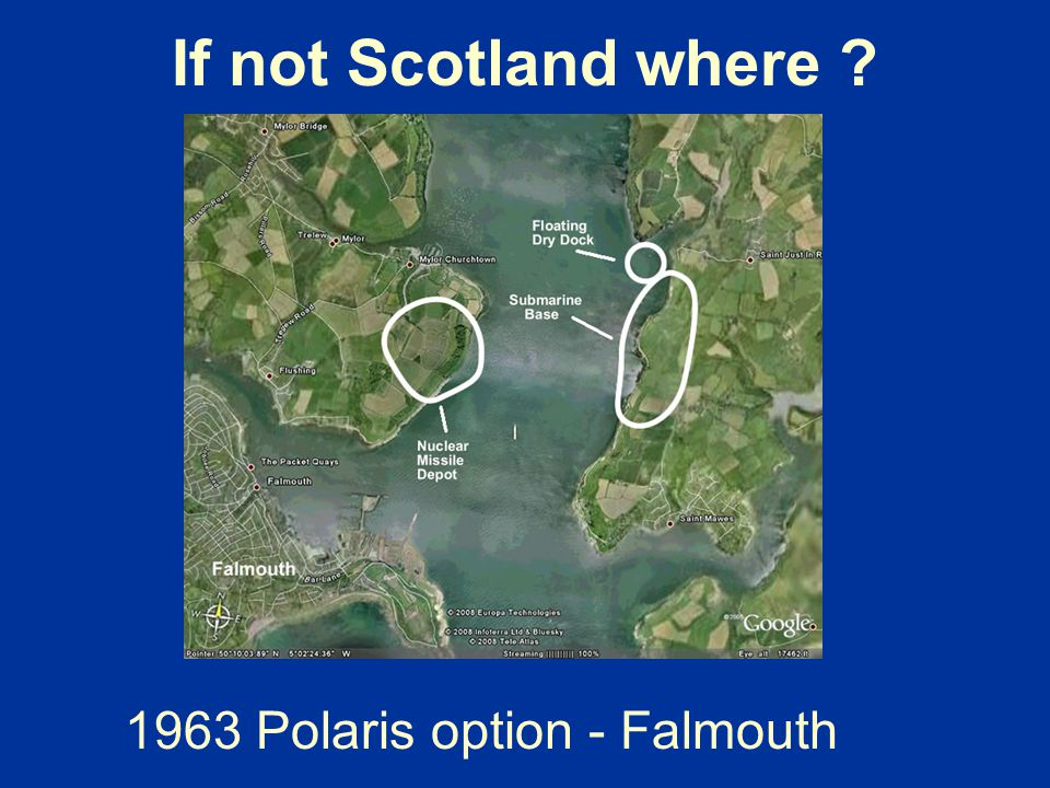 If not Scotland where ? 1963 Polaris option - Falmouth