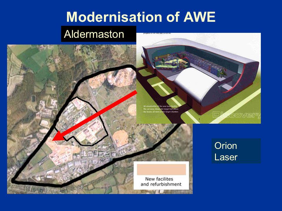 Modernisation of AWE Orion Laser Aldermaston