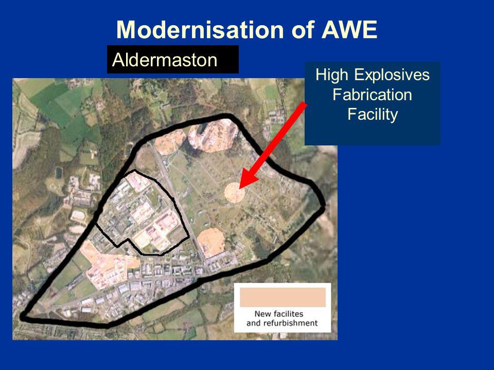 Modernisation of AWE High Explosives Fabrication Facility Aldermaston