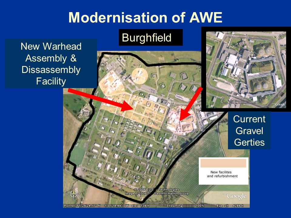 Modernisation of AWE New Warhead Assembly & Dissassembly Facility Burghfield Current Gravel Gerties