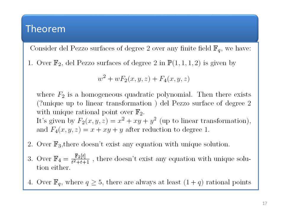 17 Theorem