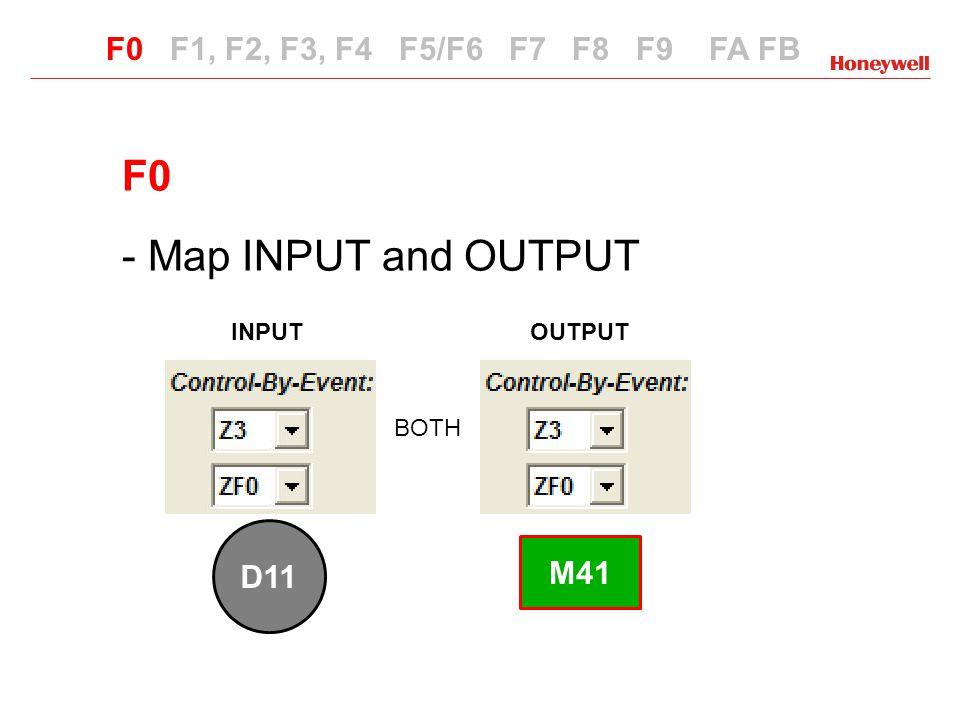 F0 - Map INPUT and OUTPUT INPUTOUTPUT F0 F1, F2, F3, F4 F5/F6 F7 F8 F9 FA FB F0 BOTH ARE REQUIRED SOFTWARE Zone