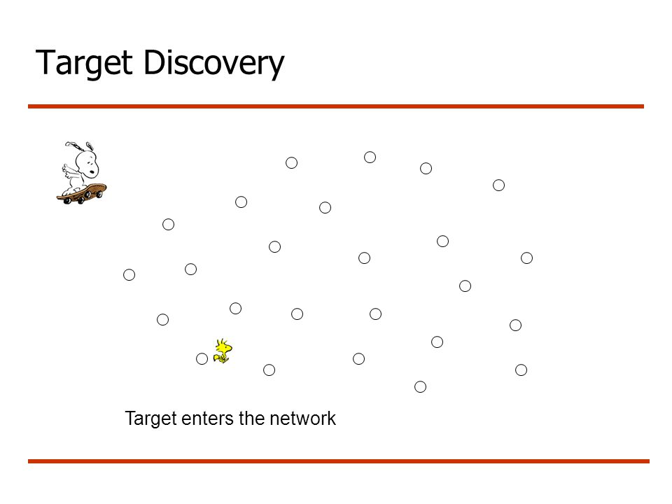 Target Discovery Target enters the network