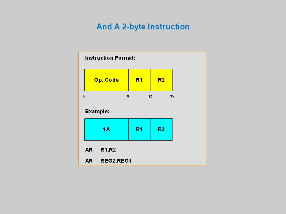 And A 2-byte Instruction