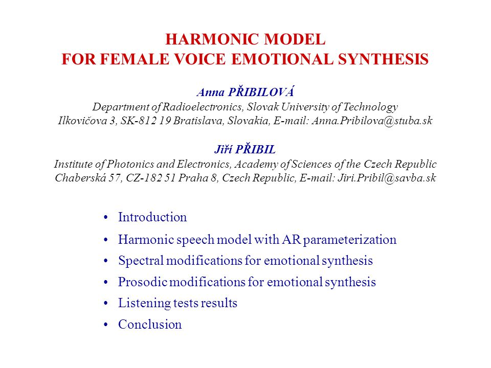 Harmonic speech model with AR parameterization voicing transition frequency