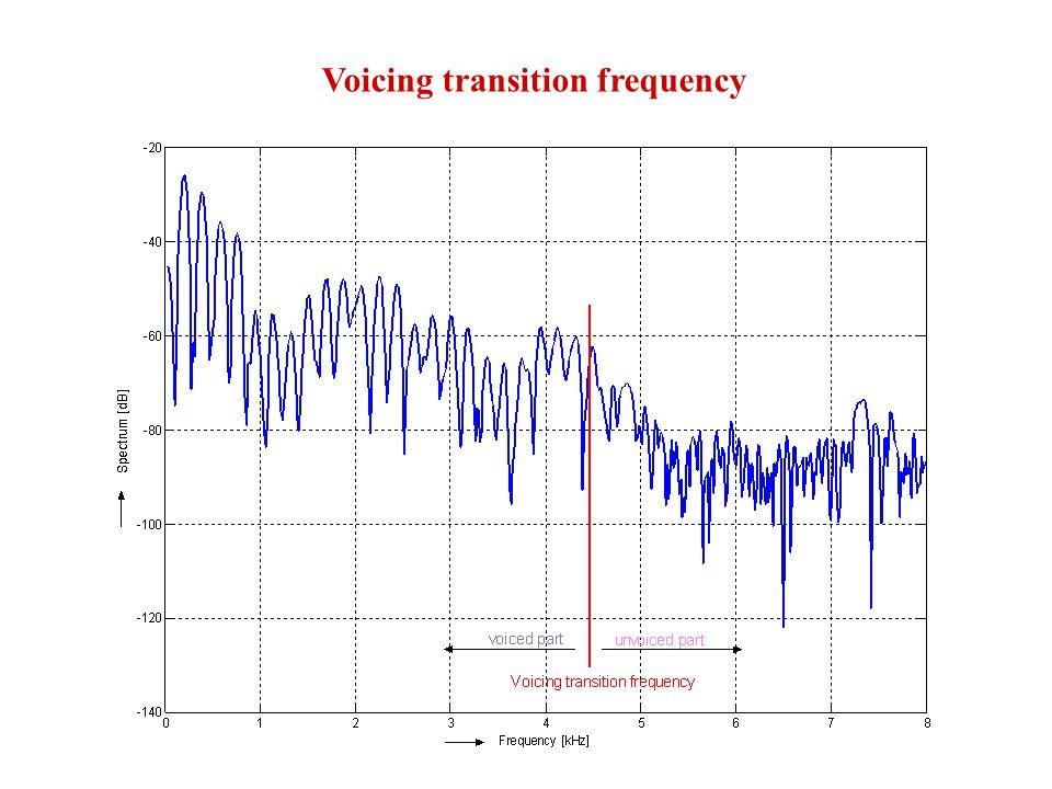 Determination of model parameters spectral flatness measure