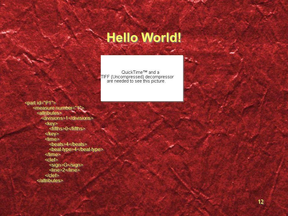 12 Hello World! 1 0 4 G 2 1 0 4 G 2
