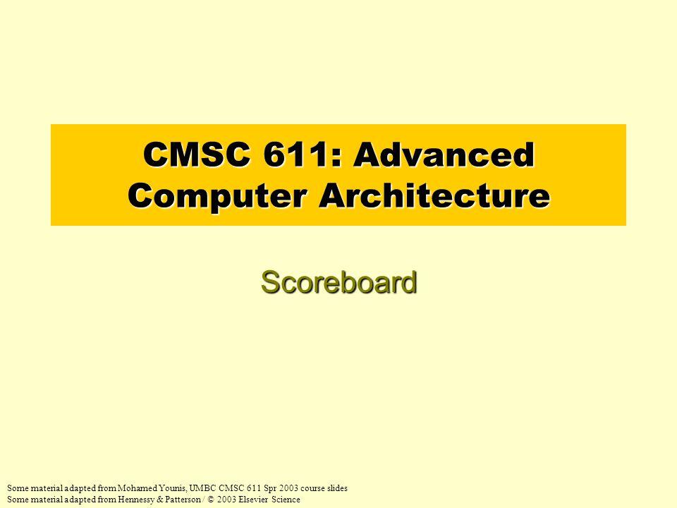 Scoreboard Example Cycle 8b 22