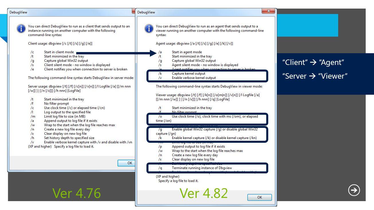 Client  Agent Server  Viewer Ver 4.76Ver 4.82