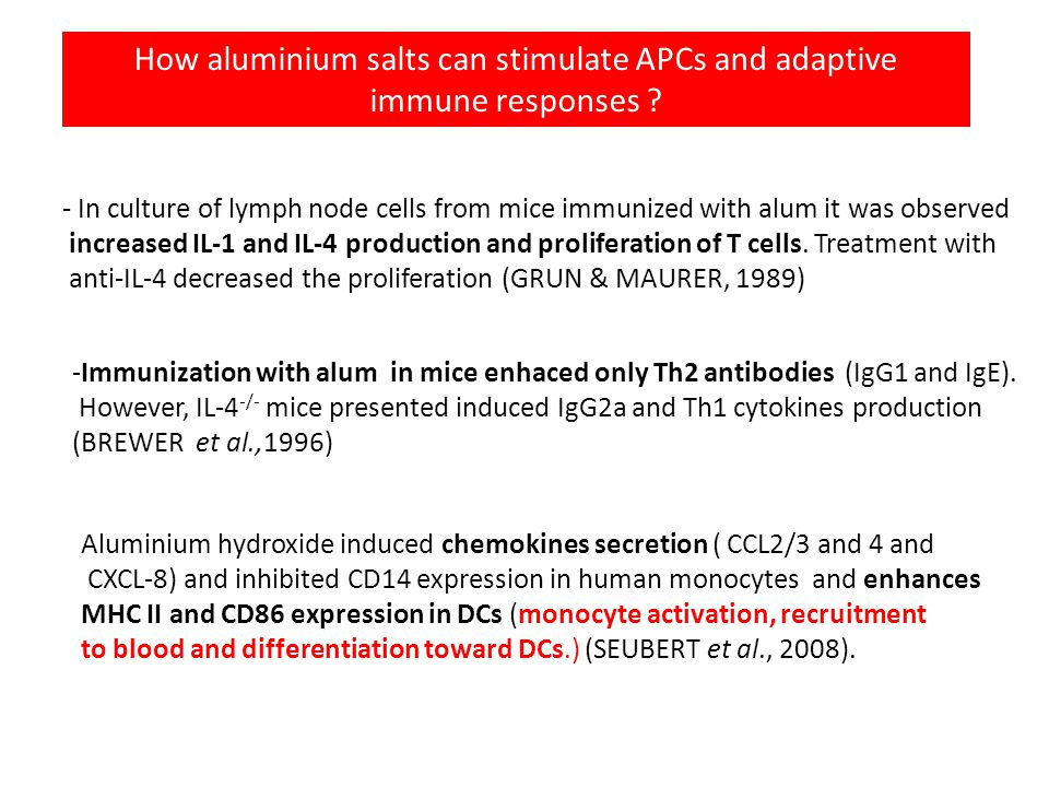 How aluminium salts can stimulate APCs and adaptive immune responses .