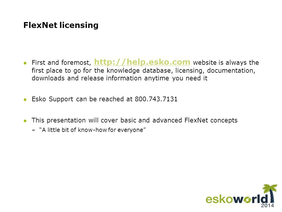 4 FlexNet licensing ●Basic concepts for FlexNet