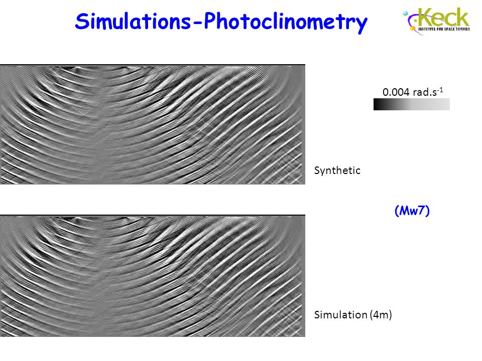 Simulations-Photoclinometry Synthetic Simulation (4m) 0.004 rad.s -1 (Mw7)