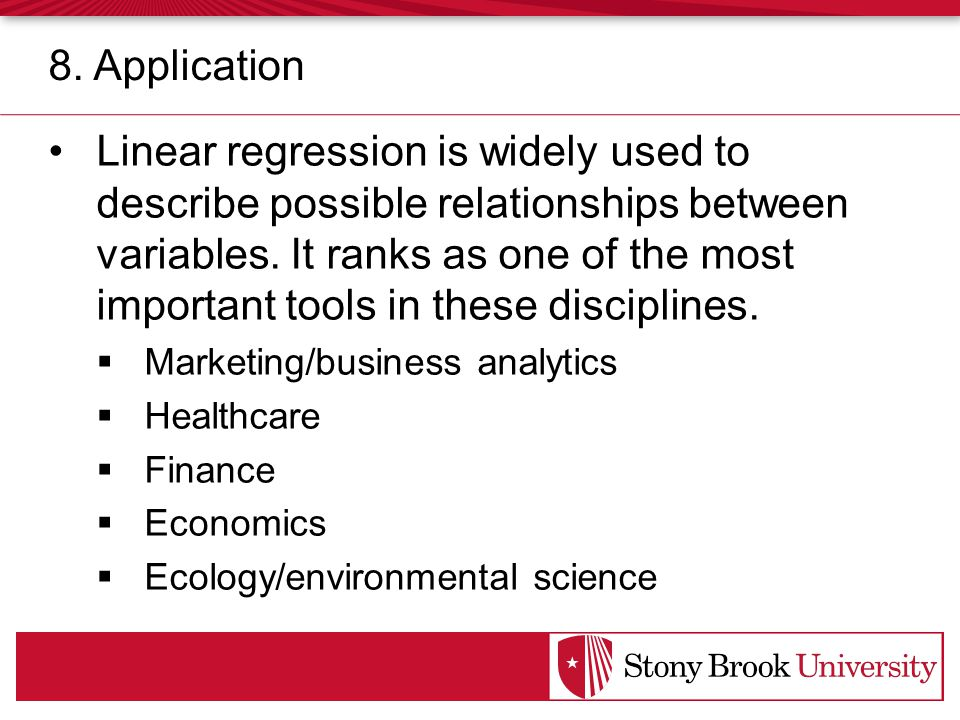 Linear regression is widely used to describe possible relationships between variables.