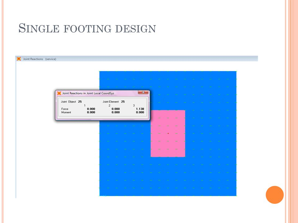 S INGLE FOOTING DESIGN