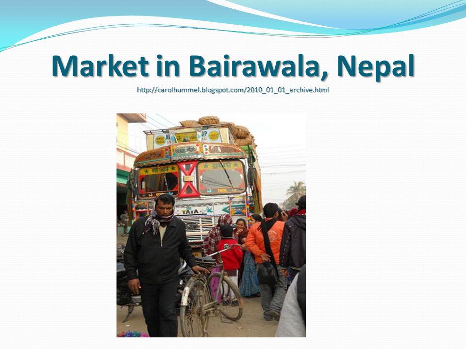 Market in Bairawala, Nepal http://carolhummel.blogspot.com/2010_01_01_archive.html