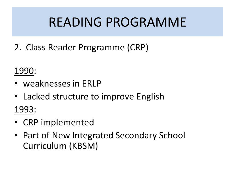 READING PROGRAMME 2.