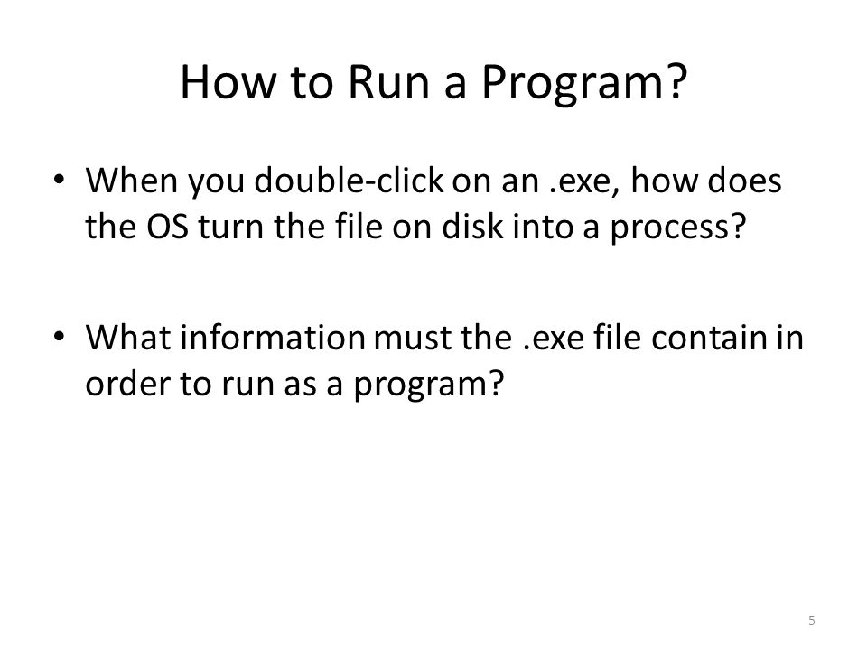 How to Run a Program.