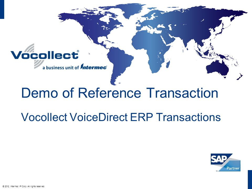 © 2012, Intermec IP Corp. All rights reserved.