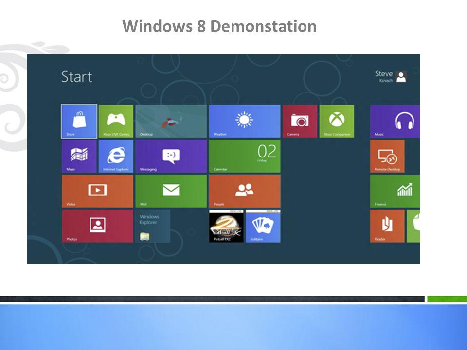 Windows 8 Demonstation