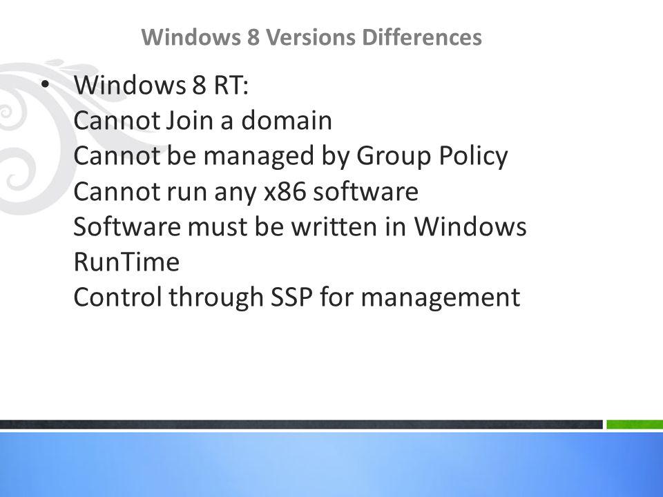 Windows 8 New Features New Features First Metro – Everyone is talking about it Start Menu Charms Bar Start Menu Windows 8 Desktop