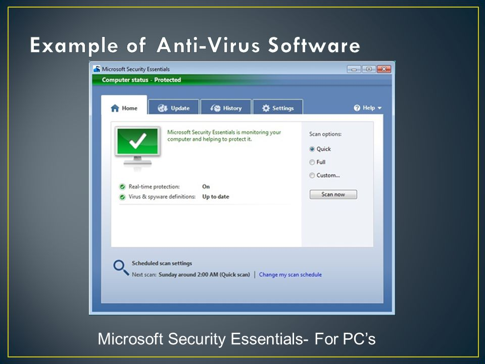 Microsoft Security Essentials- For PC's