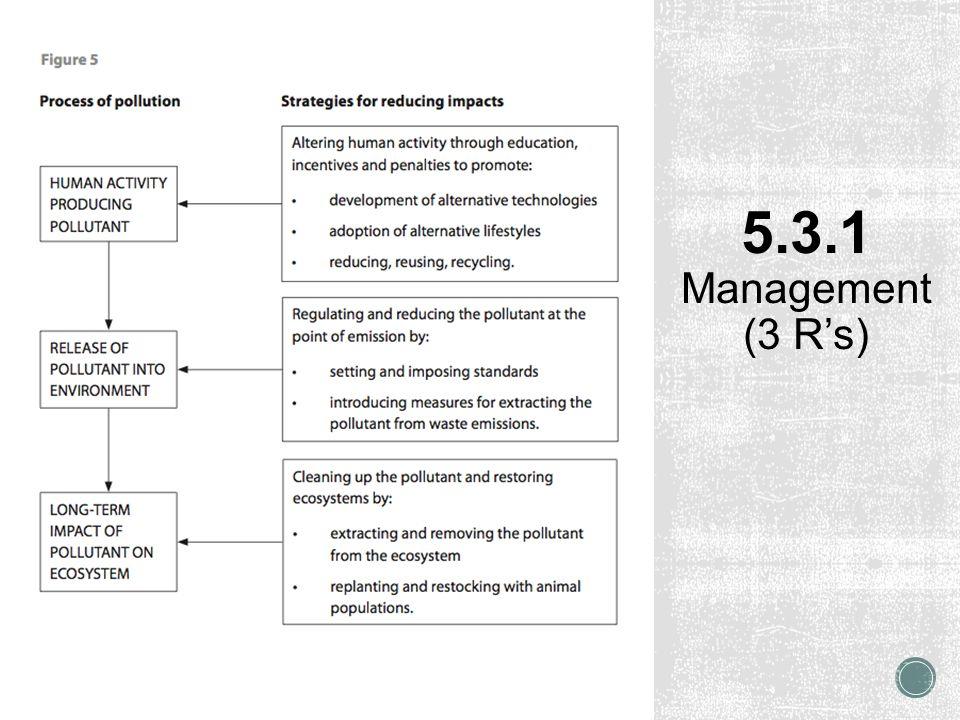 5.3.1 Management (3 R's)