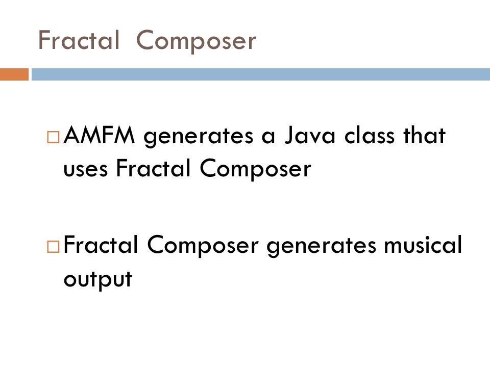 Fractal Composer  Fractal music Java library