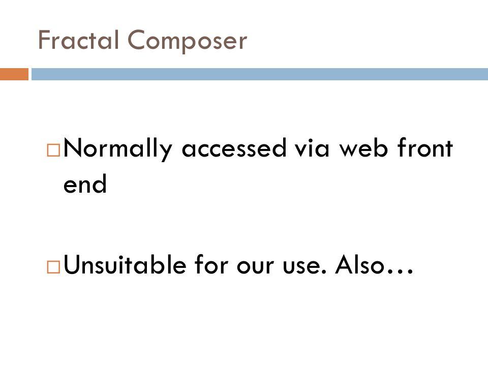 Fractal Composer  Problems!