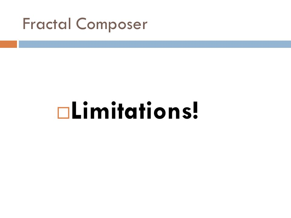 Fractal Composer  Can't read a UI like you can a program (or musical score)