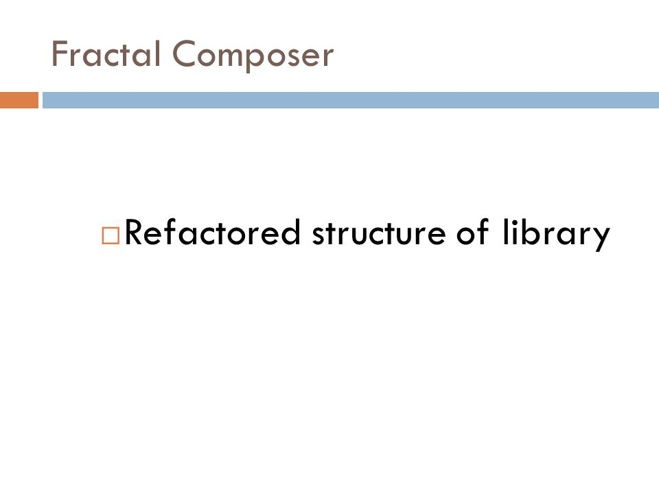 Fractal Composer  Extensive modifications to library