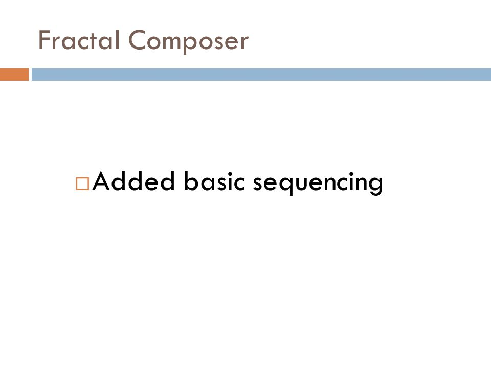 Fractal Composer  Added multi-seed capability