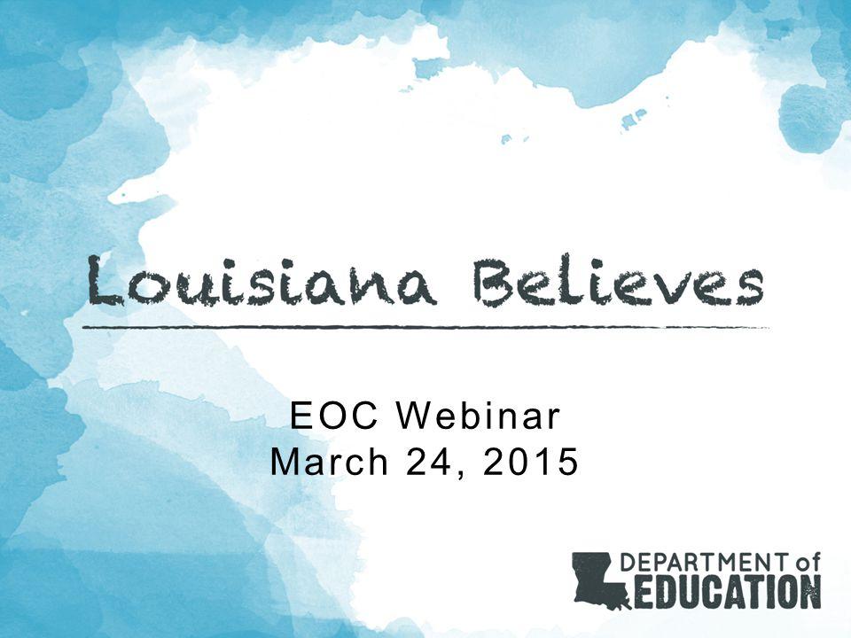EOC Webinar March 24, 2015