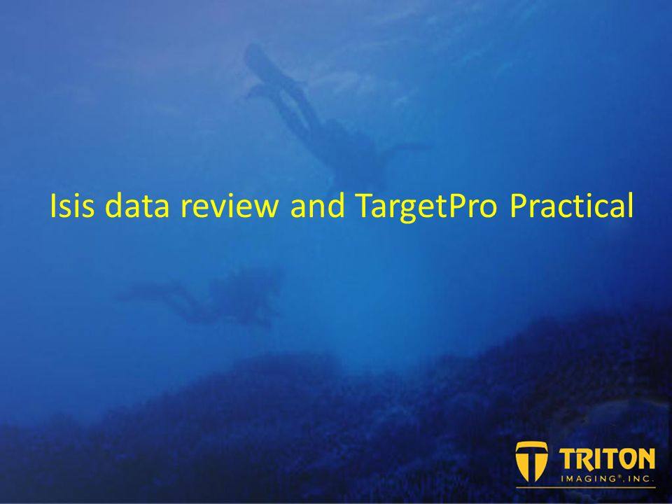 Target creation and analysis TargetPro reads and processes the XTF file.