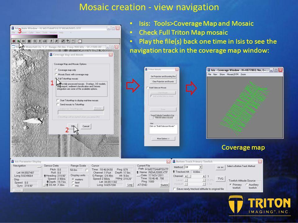 Triton Isis Mosaic Creation with SAS data practical