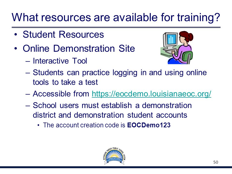 What resources are available for training.