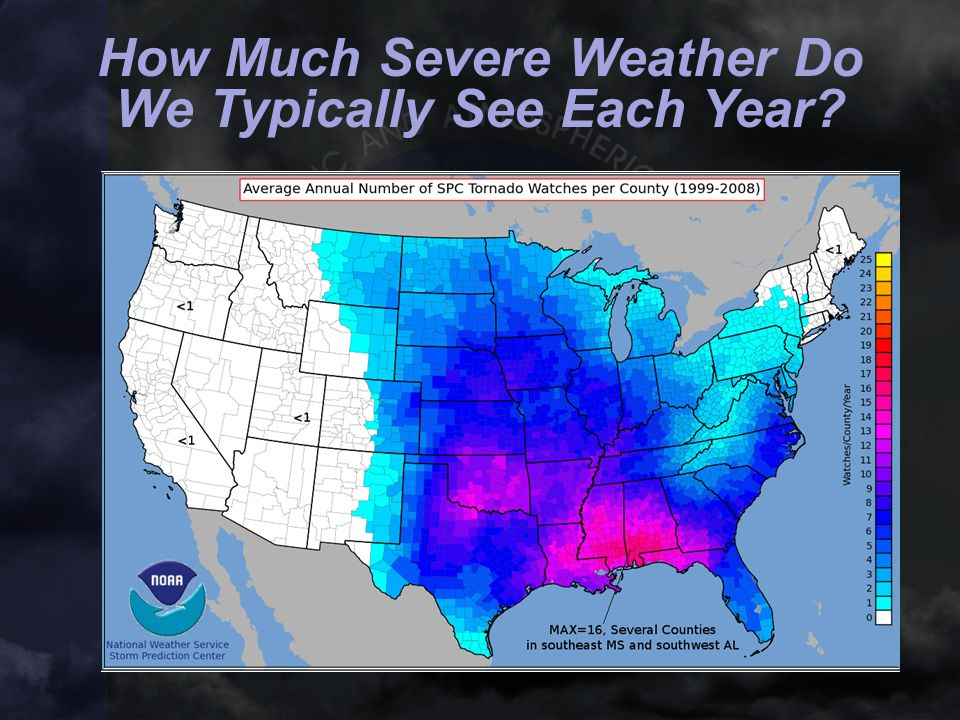 How Much Severe Weather Do We Typically See Each Year?