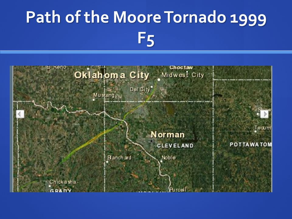 Path of the Moore Tornado 1999 F5