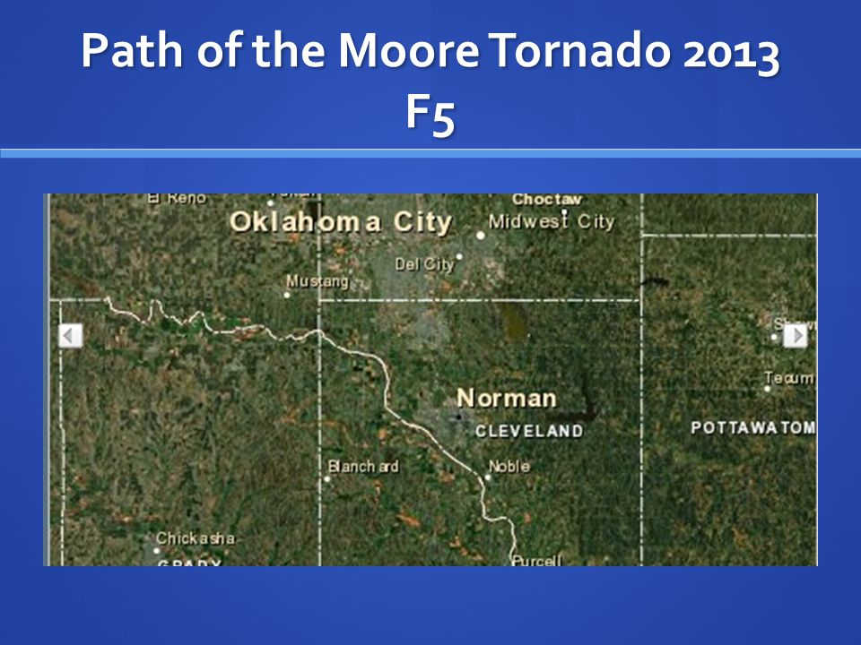 Path of the Moore Tornado 2013 F5