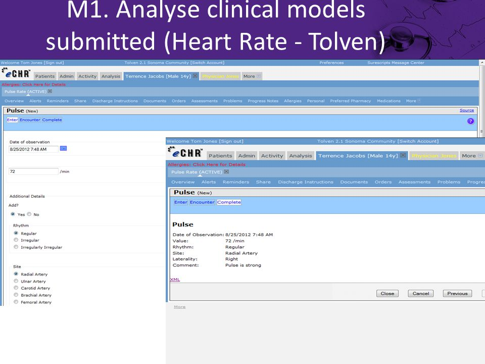 M1. Analyse clinical models submitted (Heart Rate - Tolven)