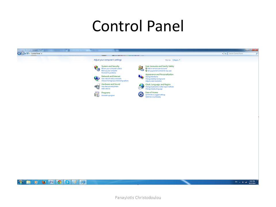 Control Panel Panayiotis Christodoulou