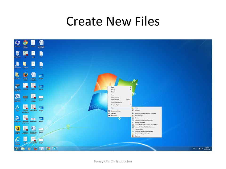 Create New Files Panayiotis Christodoulou
