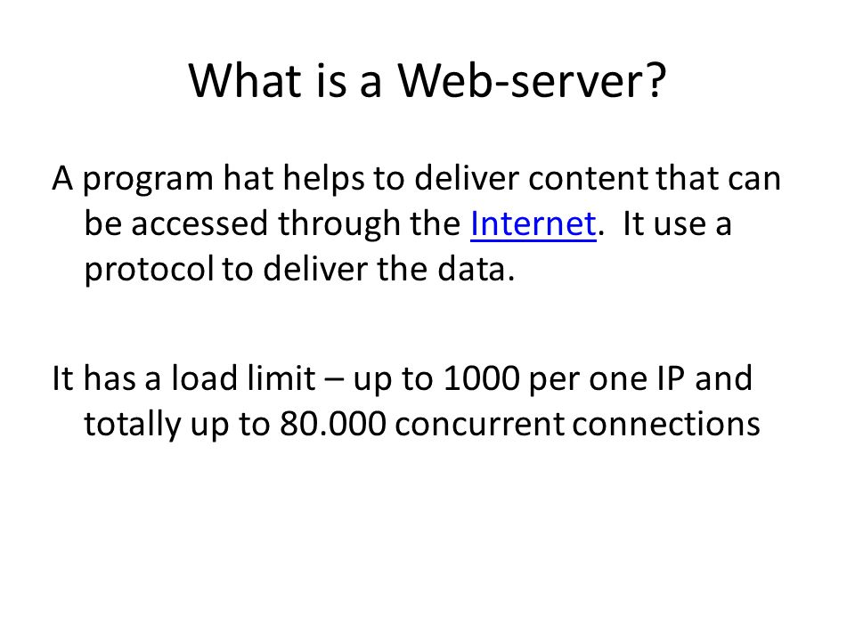 What is a Web-server.